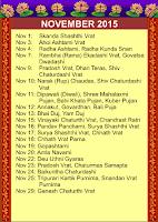 Screenshot of Indian Festivals Calendar 2015