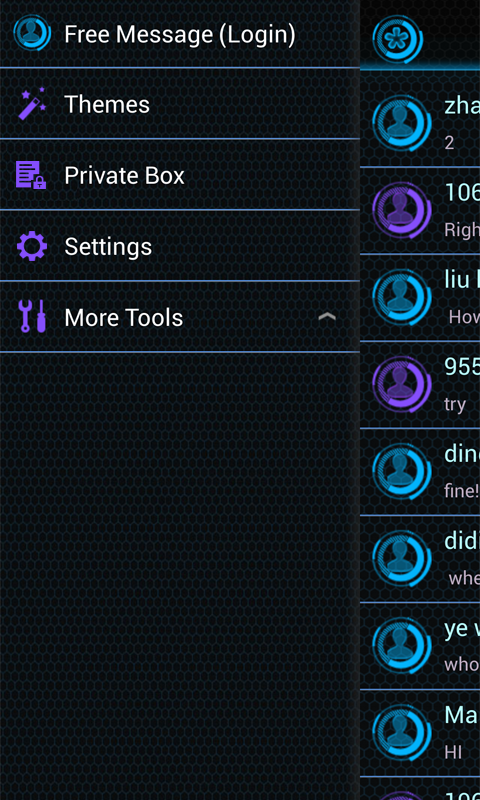 GO SMS PRO FUTUREWORLD THEME - screenshot