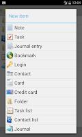 Screenshot of B-Folders Password Manager