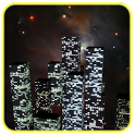 3D Night City Clock icon