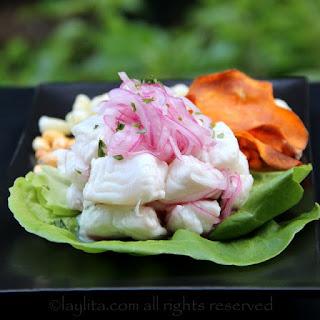 Peruvian Fish Cebiche Or Ceviche