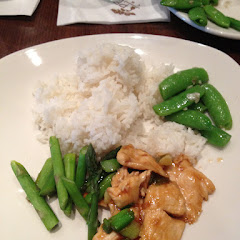 GF Ginger Chicken (broccoli substituted for asparagus)