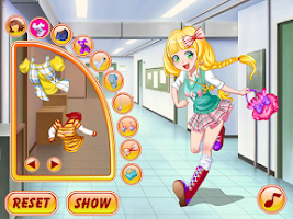 Screenshot of Dress Up Games, Late For Class