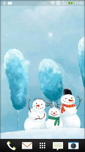 雪人 动态壁纸