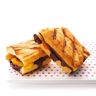 Grilled Chocolate and Apricot Sandwiches.