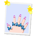 Nail glittering hand to toes icon