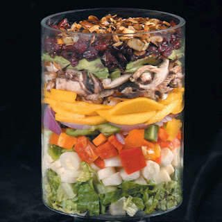 Summer Salad with Sweet Poppy Seed Dressing.