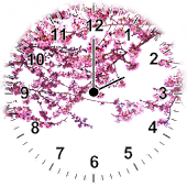 Sakura Analog Clock