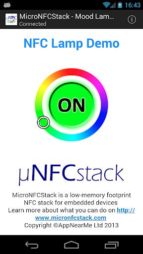 MicroNFCStack - Mood Lamp Demo