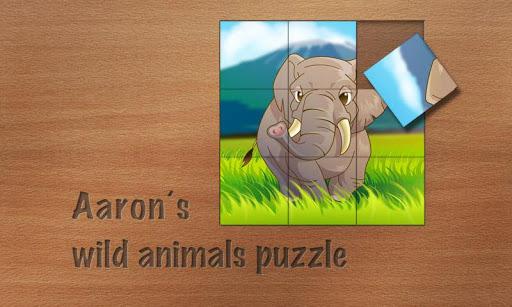 Aarons wild animals puzzle