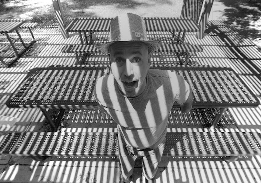 Stripes by Jim Downey - Black & White Portraits & People ( wide angle, contrst, funny, stripes, portrait )
