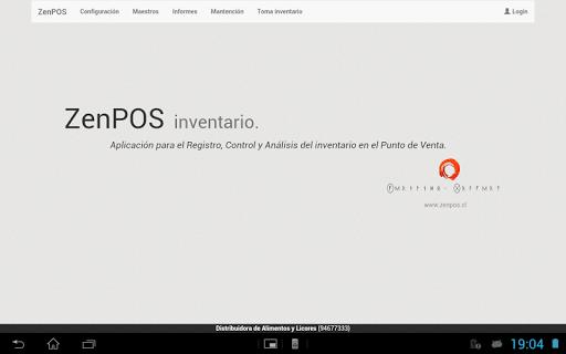 ZenPOS Inventario Tablet