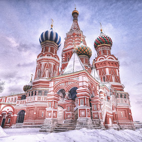 Saint Basil's Cathedral during winter !!! by Sifu  Azri  - Buildings & Architecture Public & Historical