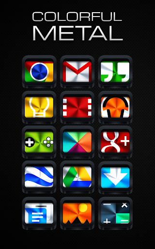 Colorful Metal - Icon Pack