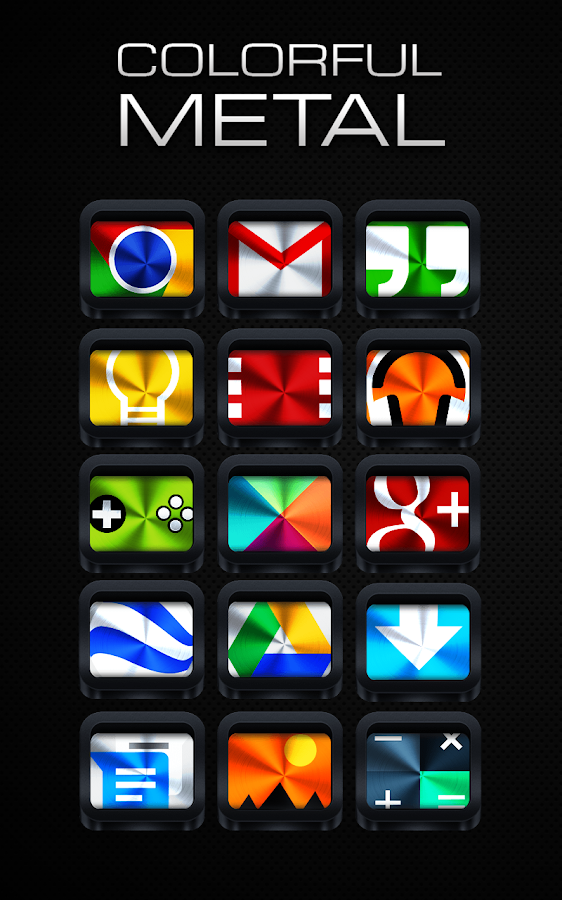 Colorful Metal - Icon Pack - screenshot
