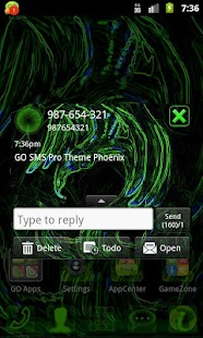 Theme Phoenix for GO SMS Pro- screenshot thumbnail