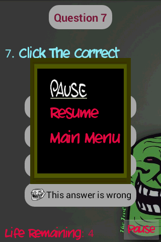 Troll Quiz - screenshot