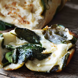 Spinach Feta Pull Apart Garlic Bread
