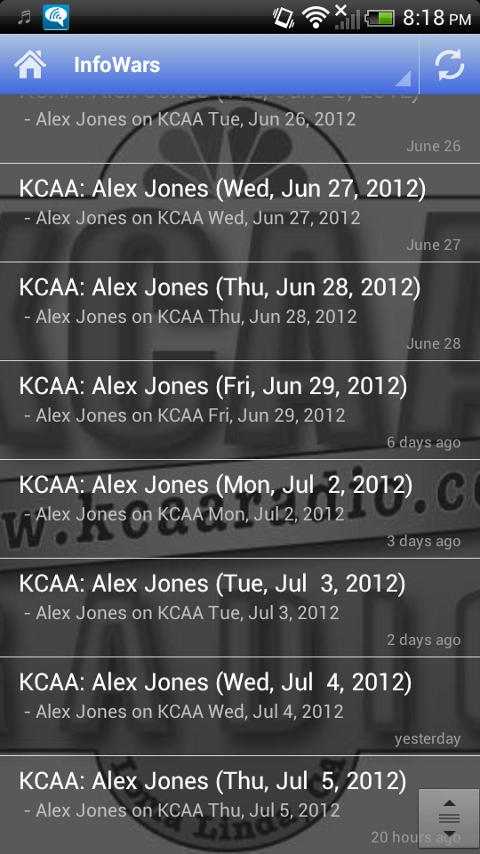 KCAA Podcast- screenshot