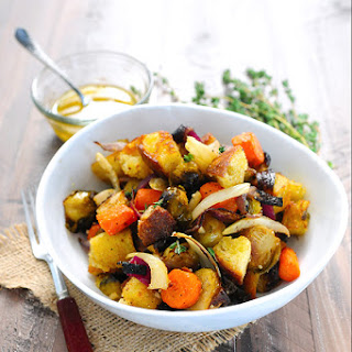 Roasted Winter Vegetable Panzanella