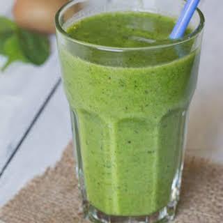 Kiwi & Spinach Smoothie.