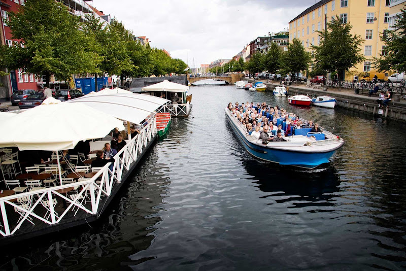 Touring the canals in Copenhagen, Denmark.