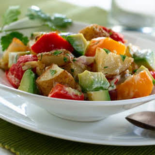 Roasted Potato & Avocado Salad.