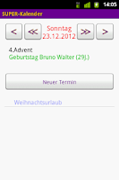 Screenshot of SUPER-Kalender