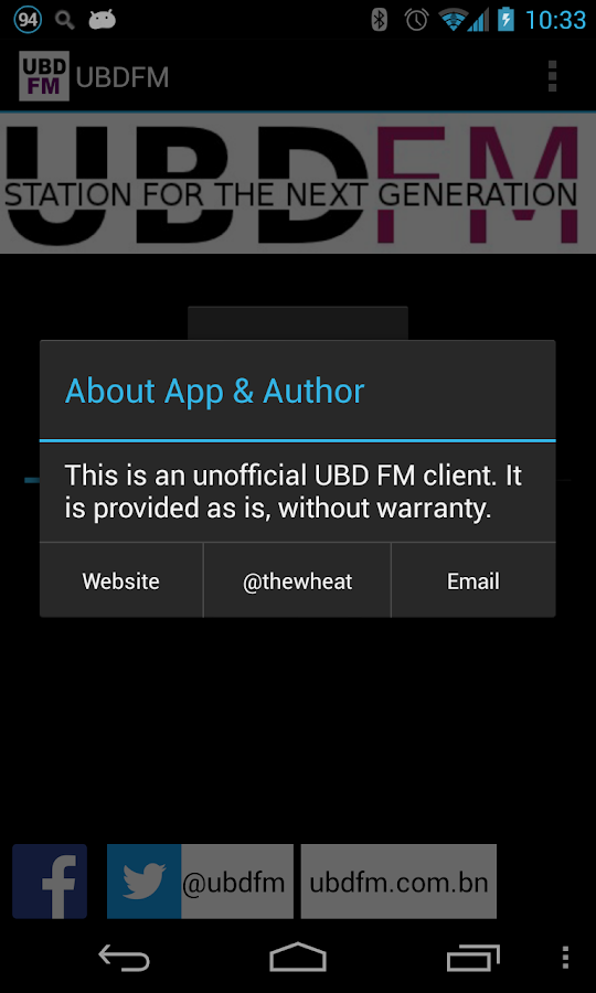 UBDFM / UBD FM Brunei- screenshot