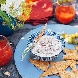 Smoked-Trout Pate with Pita Crisps