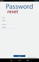 Screenshot of Password Reset