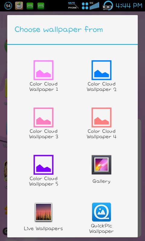 Color Cloud Wallpaper 2 - screenshot