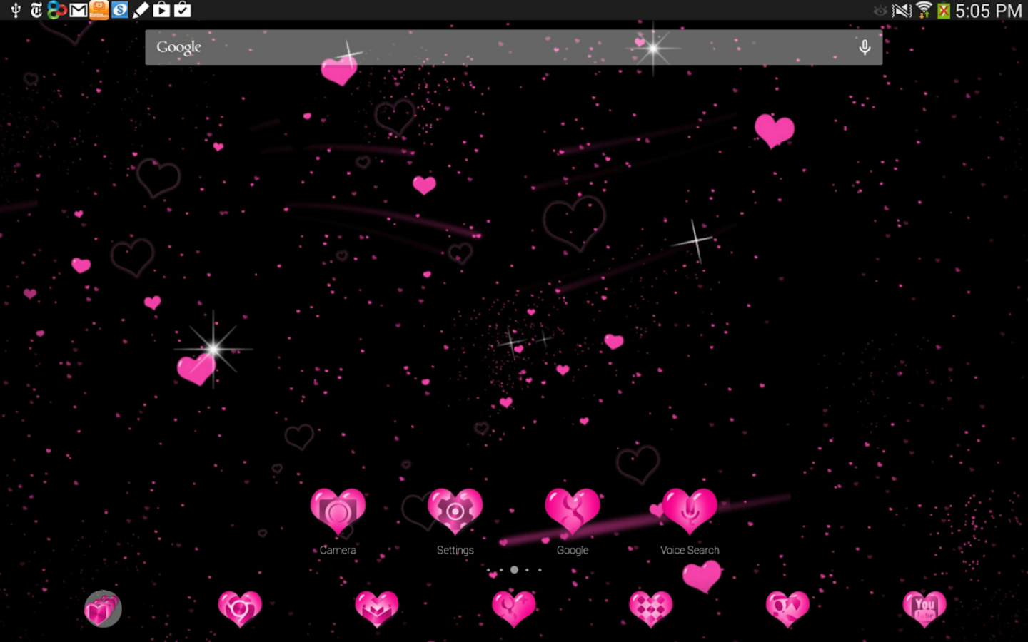 Pink Hearts Complete 4 Themes- screenshot