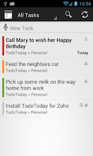 TodoToday Pro for Zoho - screenshot thumbnail