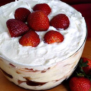 Mini Strawberry Brownie Trifle.