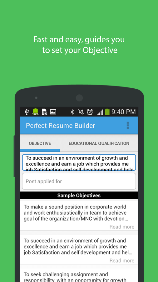 perfect resume builder android apps on google play