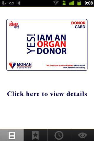 E - Donor Card App