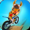 Dirt Bike Llama Stunt Rider 3D icon
