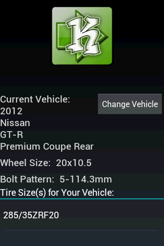 What's My Tire Size?- screenshot