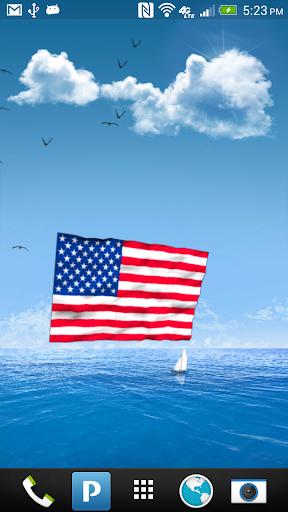 American Flags Live Wallpaper