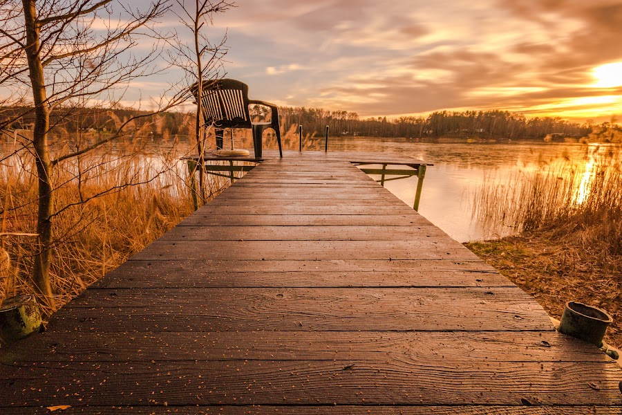 lake by Markus Busch - Buildings & Architecture Bridges & Suspended Structures ( sunset, lake )
