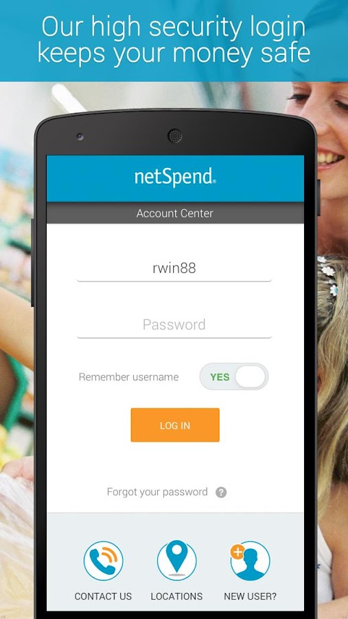 NetSpend Mobile Banking- screenshot