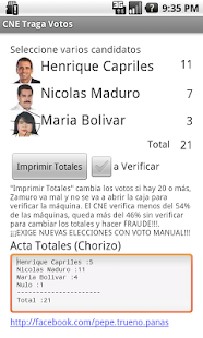 Venezuela 2013 CNE Traga Votos - screenshot thumbnail