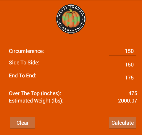 GPC Weight Estimator- screenshot