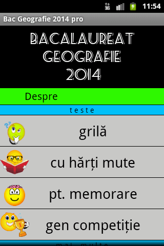 BAC Geografie 2014 pro