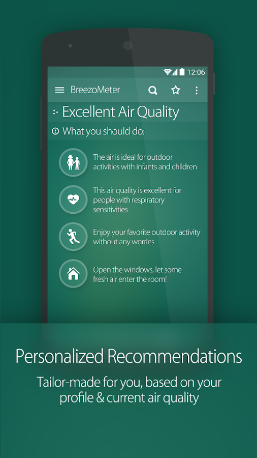 Air Quality Index BreezoMeter- screenshot