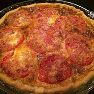 Cheese And Tomato Quiche.