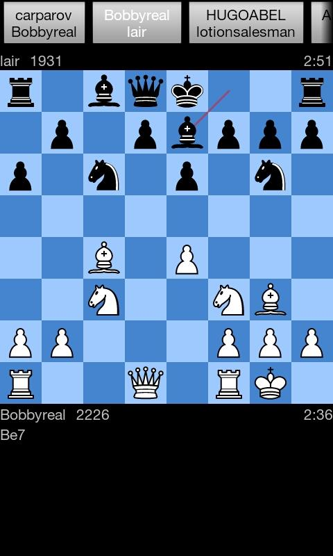 Yafi Plus - Internet Chess - screenshot