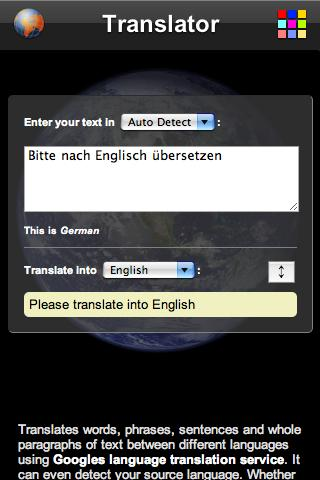 Translator - screenshot