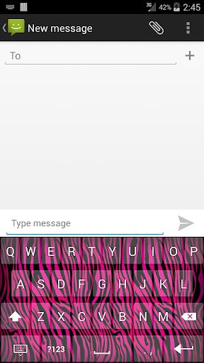 Pink Zebra Print Keyboard
